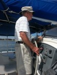 Dad at helm